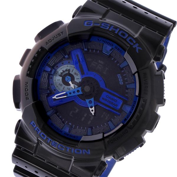 カシオ CASIO Gショック G-SHOCK ベーシック メンズ 腕時計 GA-110LPA-1A ブラック/ブルー【送料無料】