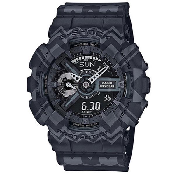 カシオ CASIO Gショック G-SHOCK アナデジ トライバル メンズ 腕時計 GA-110TP-1A ブラックトライバル【送料無料】