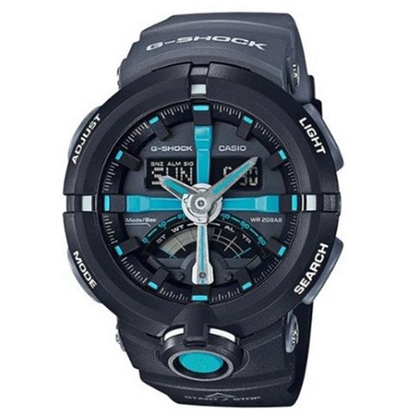 カシオ CASIO Gショック G-SHOCK パンチングパターンシリーズ メンズ 腕時計 GA-500P-1A ブラック/グレー【送料無料】