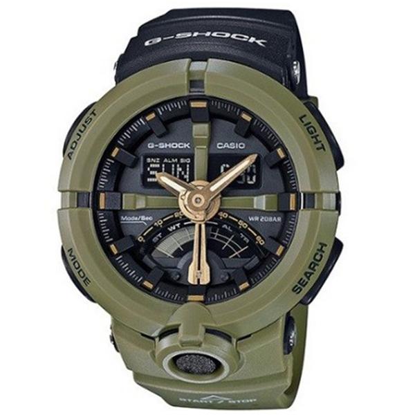 カシオ CASIO Gショック G-SHOCK パンチングパターンシリーズ メンズ 腕時計 GA-500P-3A ブラック/カーキ【送料無料】