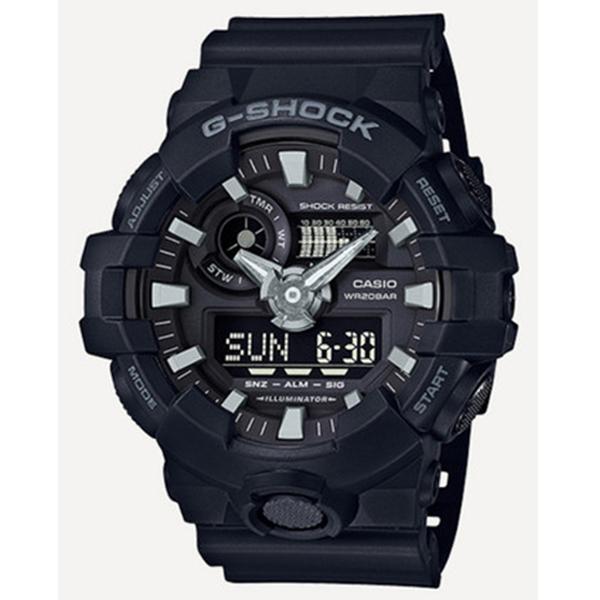 カシオ CASIO Gショック G-SHOCK アナデジ クオーツ メンズ 腕時計 GA-700-1B ブラック