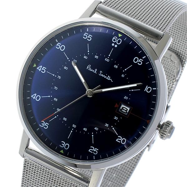 ポールスミス PAUL SMITH ゲージ GAUGE クオーツ メンズ 腕時計 P10078 ネイビー【送料無料】
