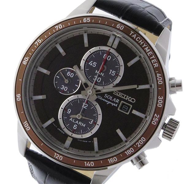 セイコー SEIKO クロノ ソーラー メンズ 腕時計 SSC503P1 ブラウン【送料無料】
