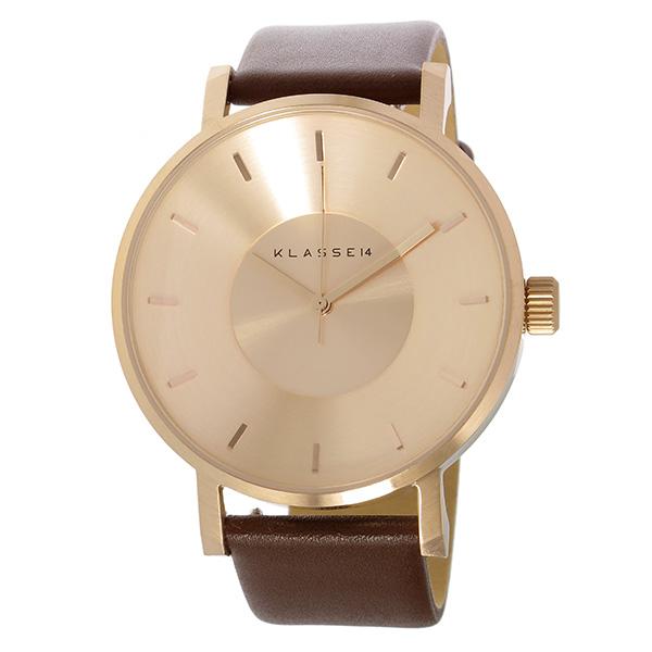 クラス14 KLASSE14 ヴォラーレ Volare 42mm ユニセックス 腕時計 VO14RG002M ローズゴールド/ブラウン【】【楽ギフ_包装】