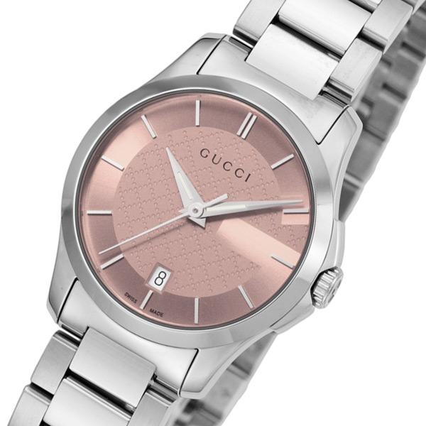 グッチ GUCCI Gタイムレス クオーツ レディース 腕時計 YA126524 ピンク【送料無料】
