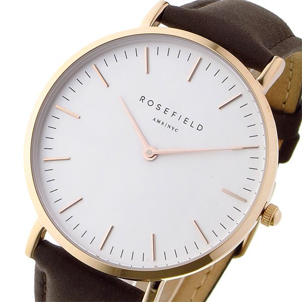 ローズフィールド Rosefield THE BOWERY 38mm クオーツ ユニセックス 腕時計 BWBRR-B3 ホワイト