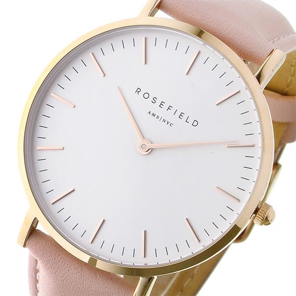 ローズフィールド Rosefield THE BOWERY 38mm クオーツ ユニセックス 腕時計 BWPR-B7 ホワイト