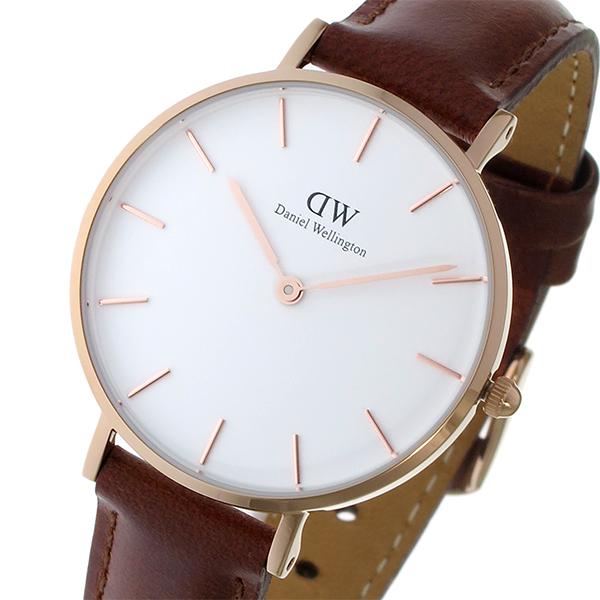 ダニエル ウェリントン クラシック ペティート セイント モーズ ホワイト レディース 32mm 腕時計 DW00100175【送料無料】