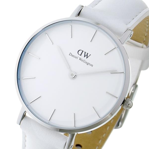 ダニエル ウェリントン クラシック ペティート ボンダイ ホワイト レディース 32mm 腕時計 DW00100190【送料無料】