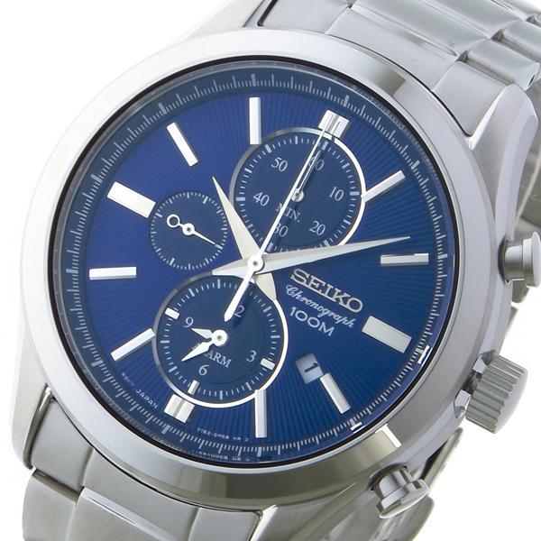 セイコー SEIKO クロノ クオーツ メンズ 腕時計 SNAF65P1 ネイビー【送料無料】
