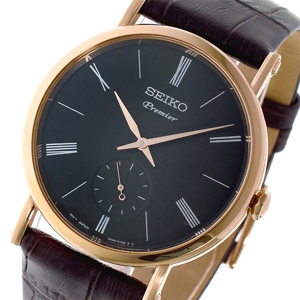 セイコー SEIKO プルミエ Premier クオーツ ユニセックス 腕時計 SRK040P1 ダークグレー【送料無料】