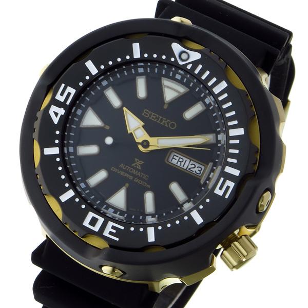 セイコー SEIKO プロスペックス PROSPEX ダイバー 自動巻き メンズ 腕時計 SRPA82K1 ブラック/ゴールド【送料無料】