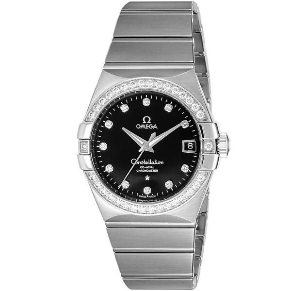 オメガ OMEGA コンステレーション コーアクシャル 自動巻き メンズ 腕時計 123.55.38.21.51.001 ブラック【送料無料】