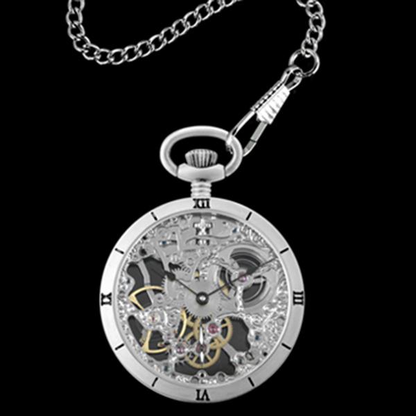 アルカフトゥーラ ARCA FUTURA 手巻き メンズ 腕時計 スケルトン 懐中時計 5074ATSSK シルバー【】【楽ギフ_包装】