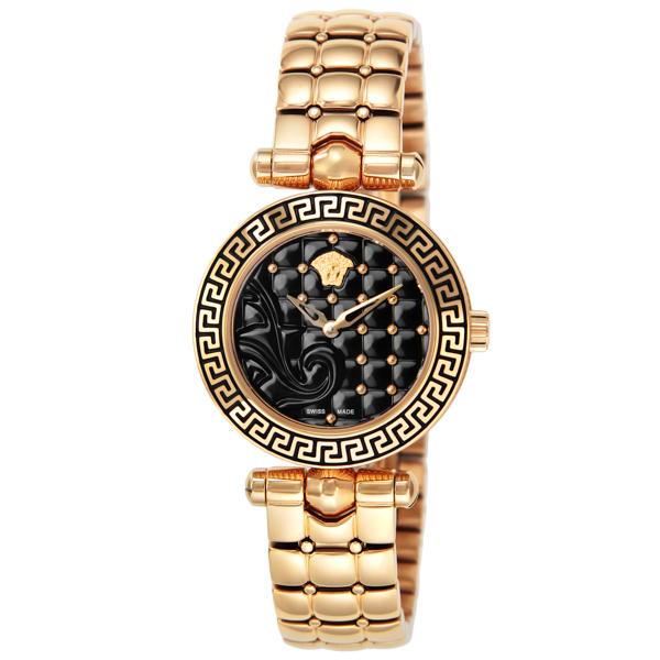 ヴェルサーチ VERSACE マイクロバニタス クオーツ レディース 腕時計 VQM050015 ブラック【送料無料】
