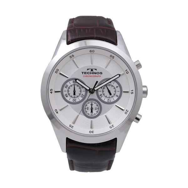 テクノス TECHNOS クロノ クオーツ メンズ 腕時計 時計 T9441SS シルバー【楽ギフ_包装】