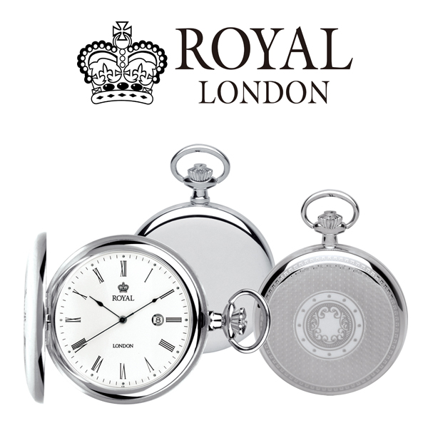 ロイヤル ロンドン ROYAL LONDON クオーツ 懐中時計 ポケットウォッチ 90001-01 シルバー【】【楽ギフ_包装】
