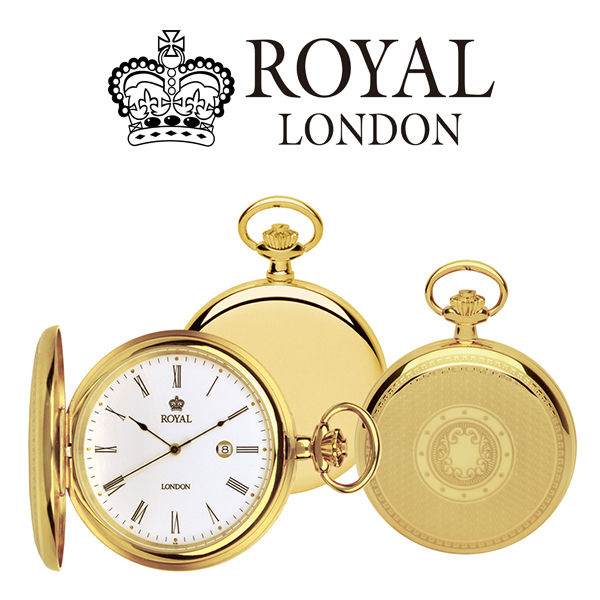 ロイヤル ロンドン ROYAL LONDON クオーツ 懐中時計 ポケットウォッチ 90001-02 ゴールド【】【楽ギフ_包装】