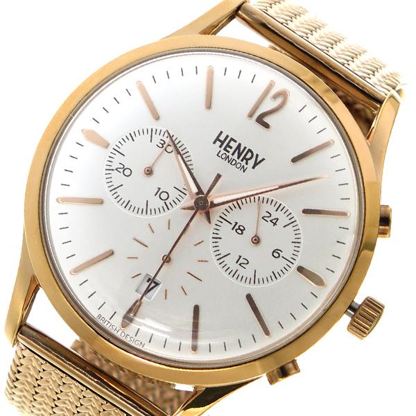 ヘンリー ロンドン HENRYLONDON クオーツ ユニセックス 腕時計 HL41-CM-0040 ホワイトシルバー【送料無料】