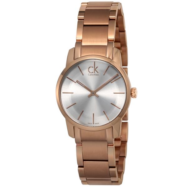 カルバン クライン Calvin Klein シティ クオーツ レディース 腕時計 K2G236.46 グレー【送料無料】