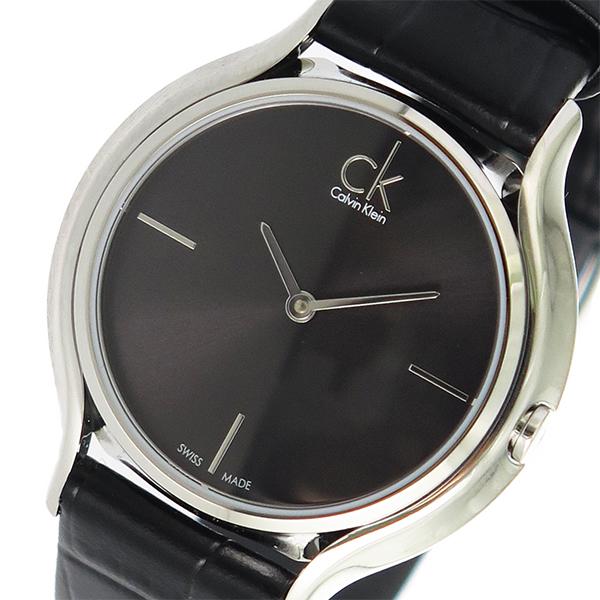 カルバンクライン CALVIN KLEIN クオーツ レディース 腕時計 K2U231C1 ブラック【送料無料】
