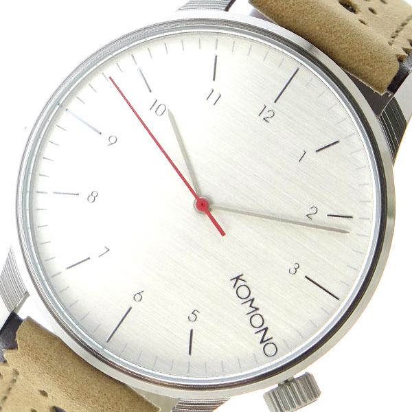 コモノ KOMONO クオーツ ユニセックス 腕時計 KOM-W2011 シルバー【送料無料】