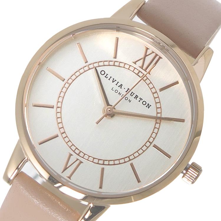 オリビアバートン OLIVIA BURTON 腕時計 OB15WD28 シルバー×ピンクベージュ【送料無料】