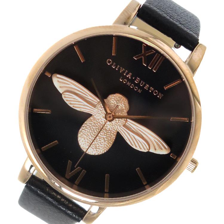 オリビアバートン OLIVIA BURTON 腕時計 OB16AM98 ブラック【送料無料】