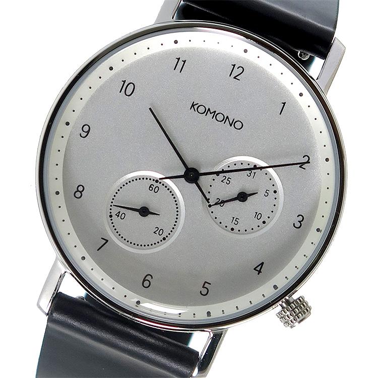 コモノ KOMONO クオーツ メンズ 腕時計 KOM-W4002 シルバー【】【楽ギフ_包装】