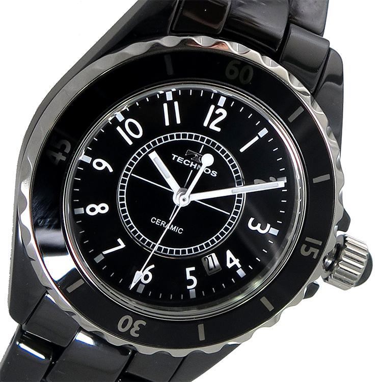 テクノス TECHNOS クオーツ メンズ 腕時計 時計 T9438TB ブラック【楽ギフ_包装】