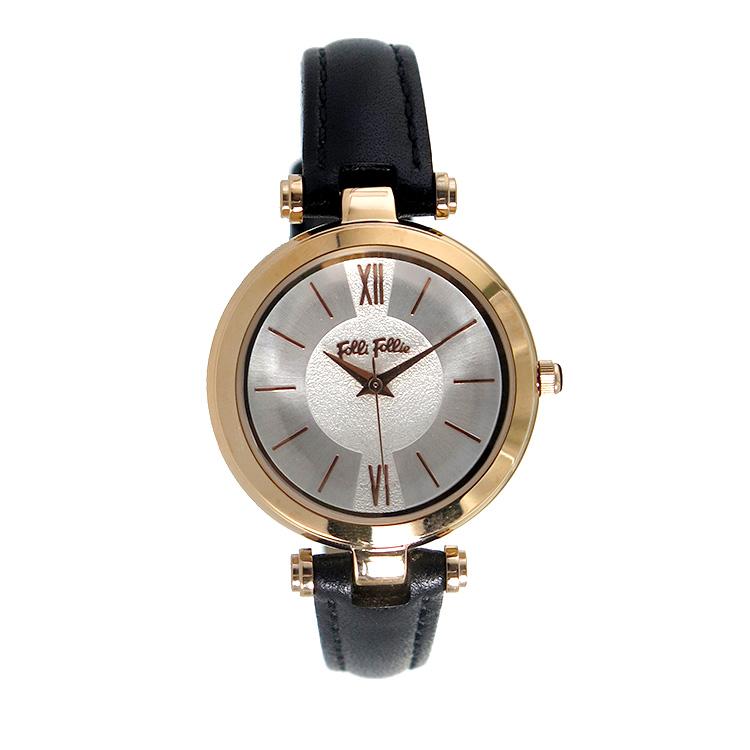 フォリフォリ FOLLI FOLLIE クオーツ レディース 腕時計 WF16R009SPS-BK シルバー【】【楽ギフ_包装】