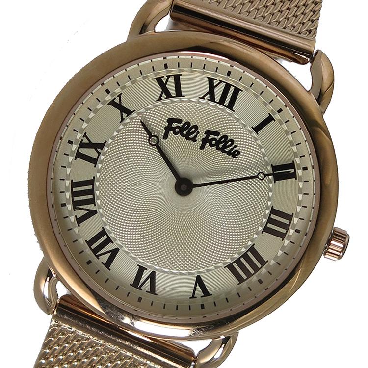 フォリフォリ FOLLI FOLLIE クオーツ レディース 腕時計 WF16R013BPS アイボリー【送料無料】