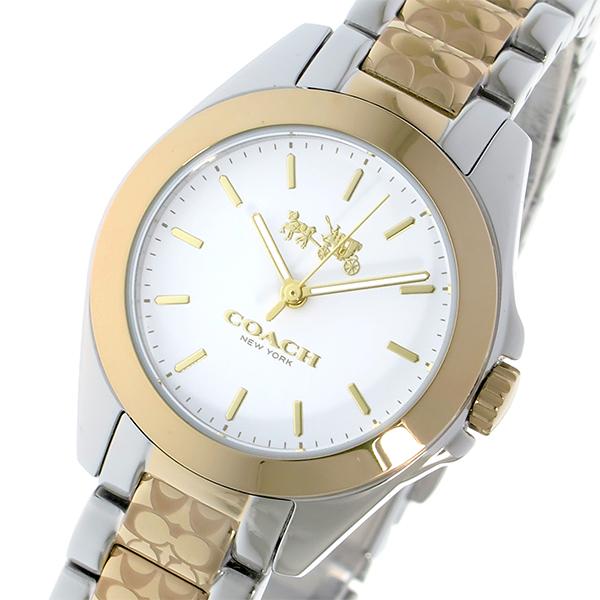 コーチ COACH トリステン クオーツ レディース 腕時計 14502186 ホワイト【送料無料】