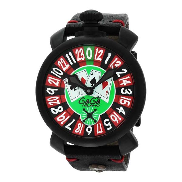 ガガ ミラノ マニュアーレ 48mm 手巻き メンズ 腕時計 5012LV01BLK ルーレット【】【楽ギフ_包装】
