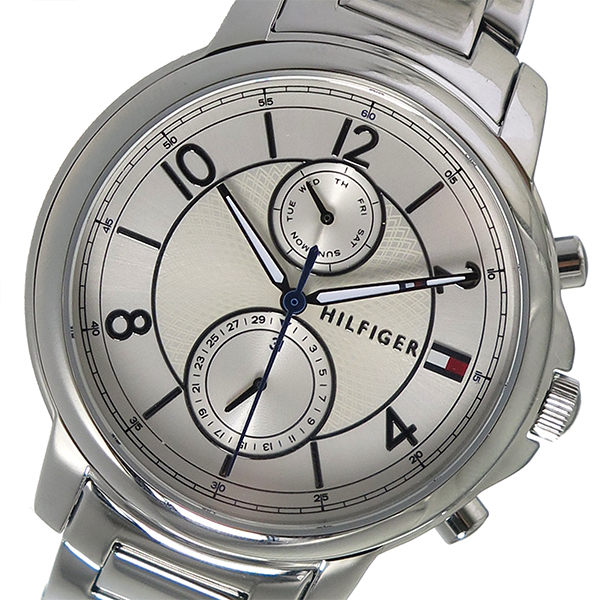 トミーヒルフィガー TOMMY HILFIGER クオーツ レディース 腕時計 1781819 ホワイト【送料無料】