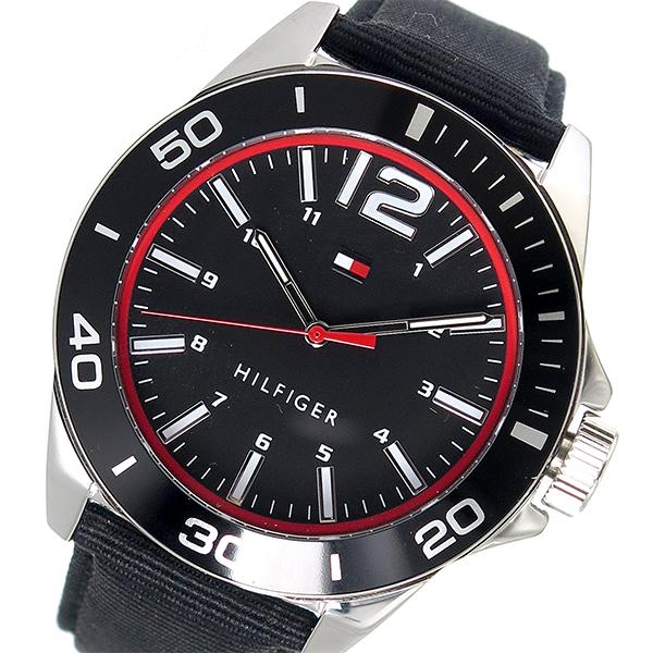 トミー ヒルフィガー TOMMY HILFIGER クオーツ メンズ 腕時計 1791284 ブラック【送料無料】