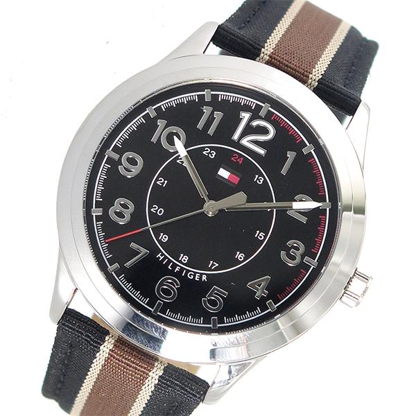 トミー ヒルフィガー TOMMY HILFIGER クオーツ メンズ 腕時計 1791330 ブラック【送料無料】