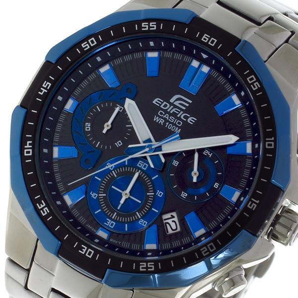 カシオ CASIO エディフィス EDIFICE クロノ クォーツ メンズ 腕時計 EFR554D1A2V ブラック/ブルー【送料無料】