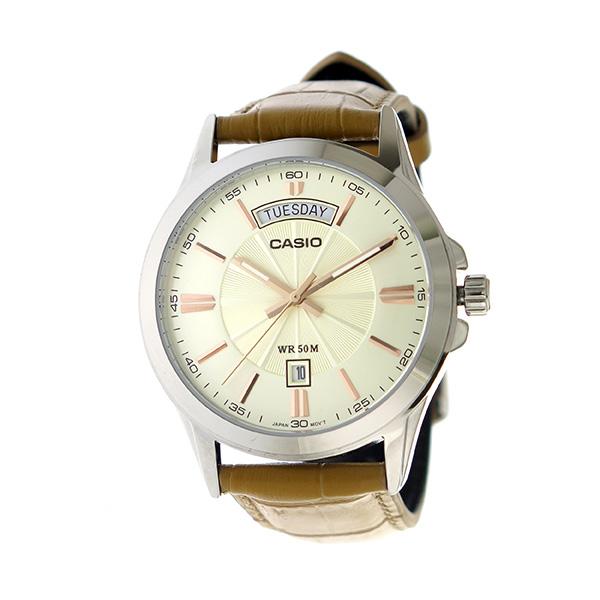 カシオ CASIO クオーツ ユニセックス 腕時計 時計 MTP-1381L-9A アイボリー