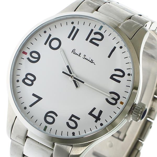 ポールスミス PAUL SMITH クオーツ メンズ 腕時計 P10063 ホワイト【送料無料】