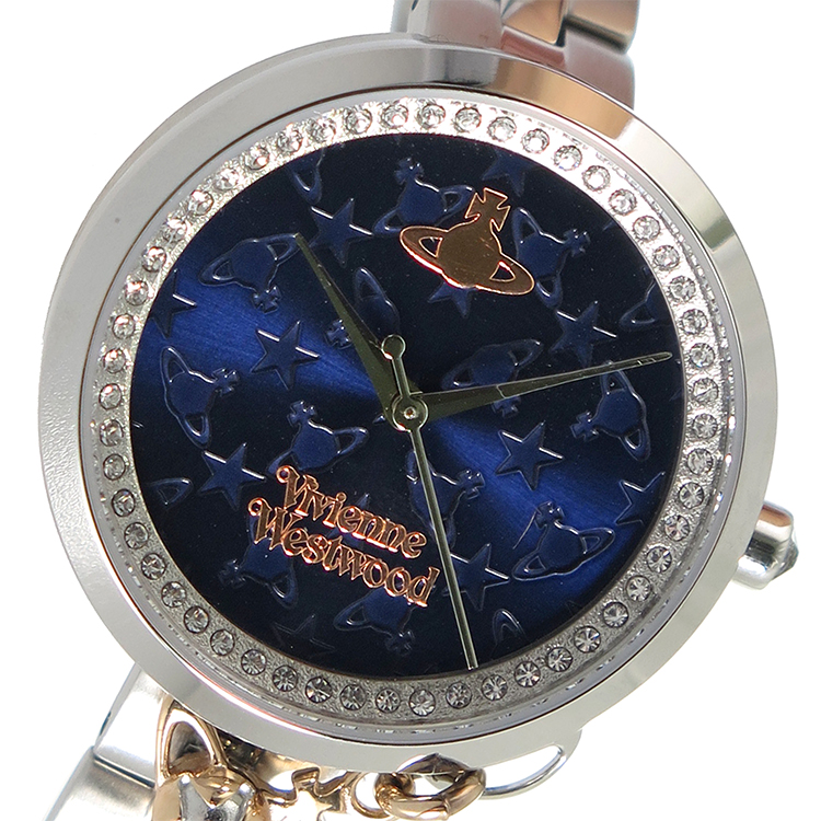 ヴィヴィアン ウエストウッド VIVIENNE WESTWOOD クオーツ レディース 腕時計 VV139NVSL ネイビー【送料無料】
