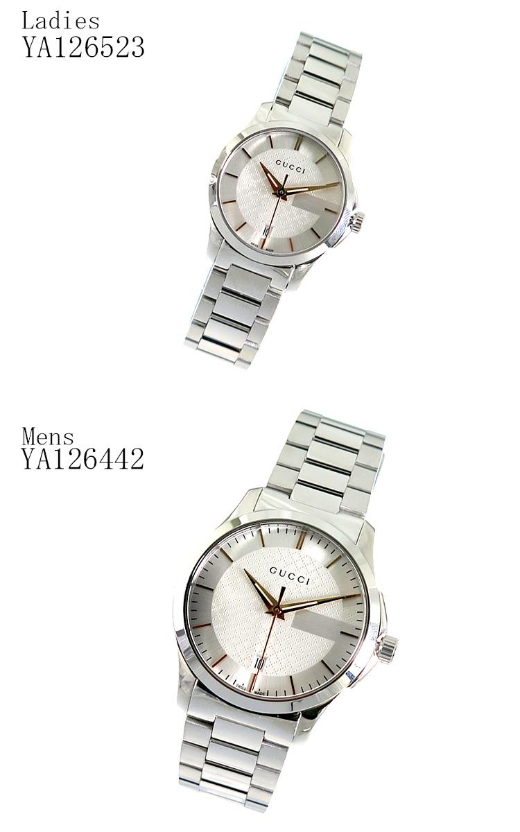 【ペアウォッチ】 グッチ GUCCI Gタイムレス クオーツ 腕時計 YA126442 YA126523【】【楽ギフ_包装】