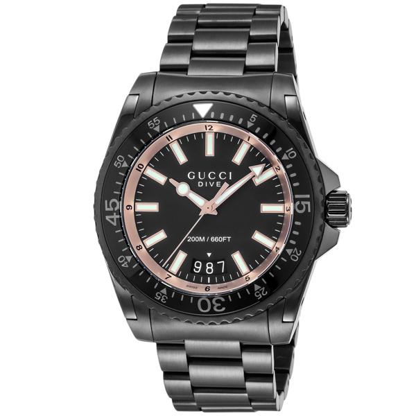グッチ GUCCI DIVE クオーツ メンズ 腕時計 YA136213 ブラック【送料無料】