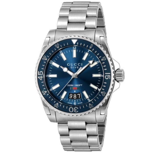 グッチ GUCCI DIVE クオーツ メンズ 腕時計 YA136311 ブルー【送料無料】