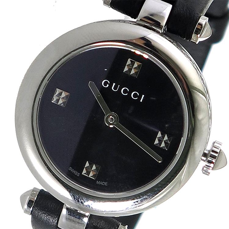 グッチ GUCCI ディアマンティッシマ クオーツ レディース 腕時計 YA141506 ブラック 送料無料 返品保証 謝礼 引っ越し祝い