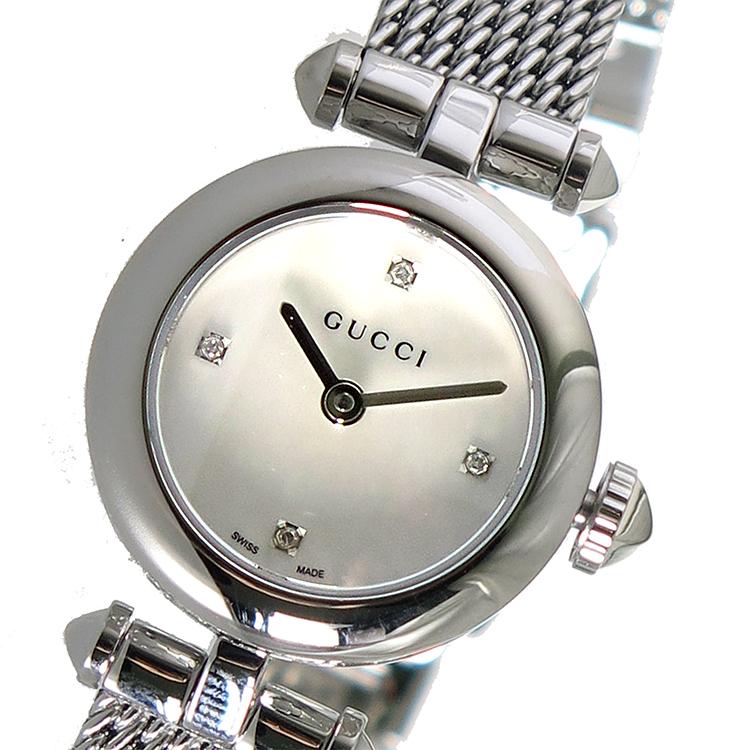 グッチ GUCCI ディアマンティッシマ クオーツ レディース 腕時計 YA141512 シェル【送料無料】