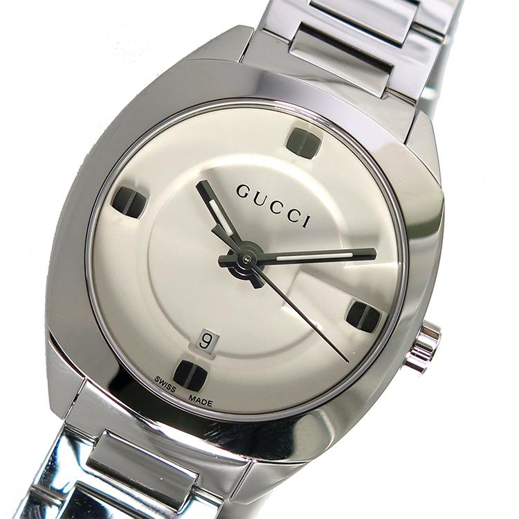 グッチ GUCCI クオーツ レディース 腕時計 YA142502 ホワイト【送料無料】