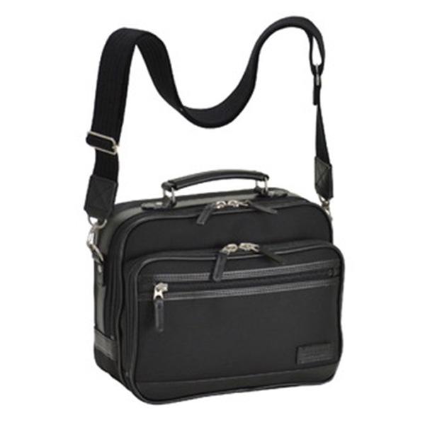 フィリップラングレー PHILIPE LANGLET 日本製 豊岡製鞄 メンズ ショルダーバッグ 33702-1H ブラック【送料無料】
