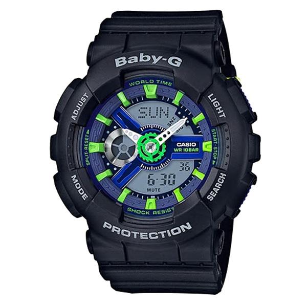 カシオ CASIO ベビーG Baby-G パンチングパターン アナデジ クオーツ レディース クロノ 腕時計 BA-110PP-1A ネイビー【送料無料】