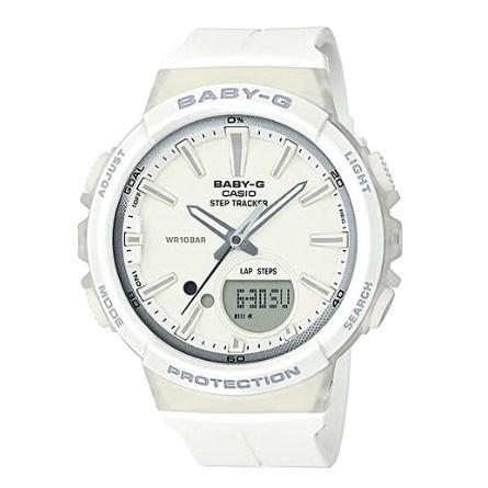 カシオ CASIO ベビーG Baby-G for running STEP TRACKER アナデジ クオーツ レディース クロノ 腕時計 BGS-100-7A1 ホワイト